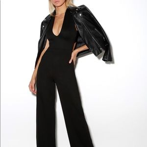 New Lulu's Thinking Out Loud Backless Jumpsuit